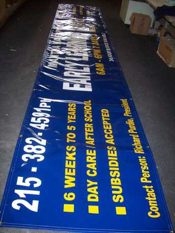 We can do vinyl banners and outdoor signs!
